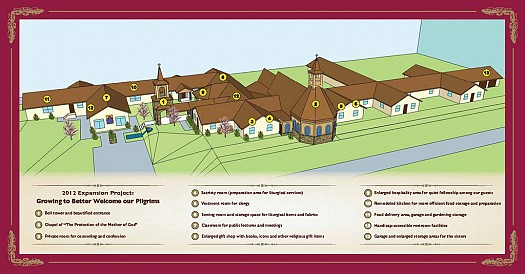 Monastery Expansion Project Plans - Click to Enlarge