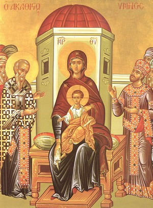 Icon of the Akathist Hymn