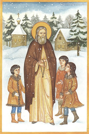 St Herman with the Aleut Children
