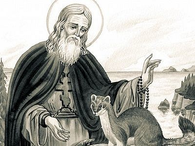 St Herman with the Ermine