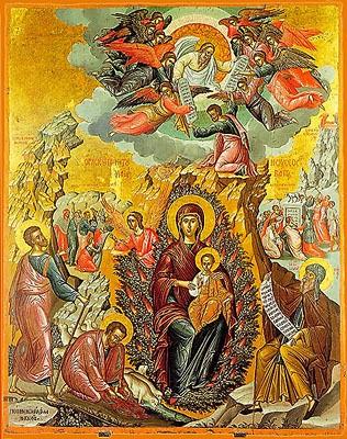 Icon of The Theotokos, 'The Burning Bush'